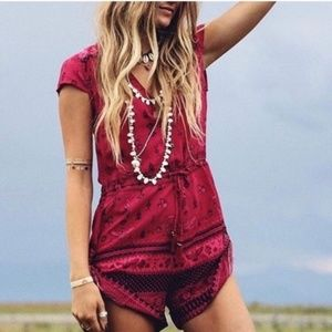 Spell & The Gypsy Phoenix Playsuit Magenta Romper
